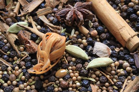 dried herbs: dried herbs and spices