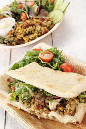 falafel: falafel wrap and salad
