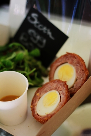 starter: scotch egg plated starter appetizer