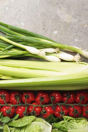 lettuces: fresh salad background Stock Photo