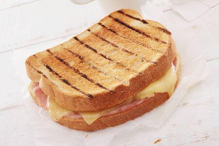fresh toasted sandwich Stock Photo