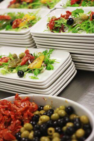 preparing: preparing salad Stock Photo