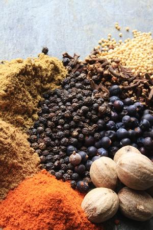 roasting mixed spices Stock Photo