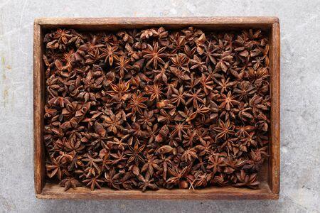 anise: star anise spice Stock Photo
