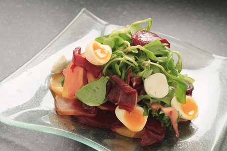 watercress: white beetroot and watercress salad