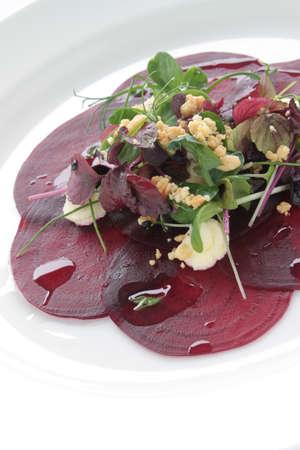 starter: cooked beetrood salad appetizer starter