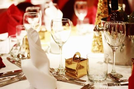 内装のテーブルの設定