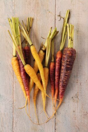 and heritage: heritage chantenay carrots Stock Photo