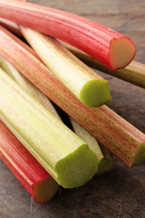 rhubarb: fresh English forced rhubarb