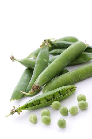peas in a pod: fresh garden peas in pod