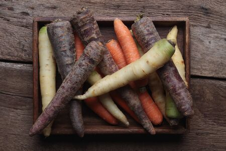 heritage: heritage carrot selection Stock Photo