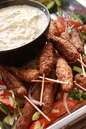 dip: mini kofte shish kofta kebabs with dip