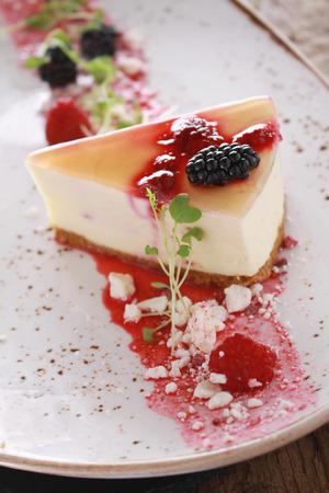 メッキ夏フルーツ チーズ ケーキ