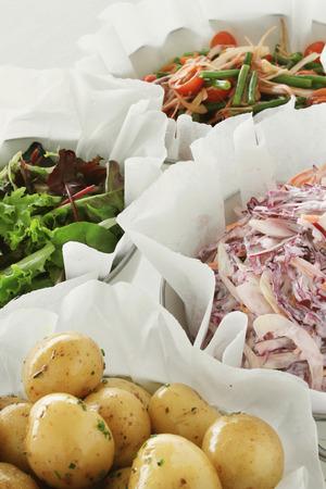 salad buffet: healthy mixed salad buffet selection food varieties