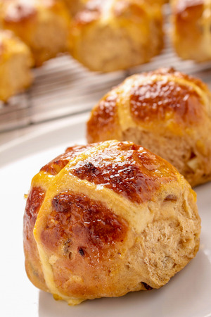 fresh baked bread Stockfoto