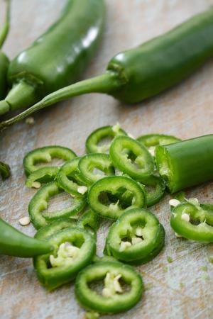 fresh green chillies Stock Photo - 106190433