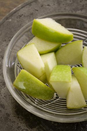 diced apple chunks
