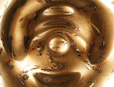 distort: Beneath the Bean, Millennium Park, South Lake Shore Drive, Central Chicago, Illinois