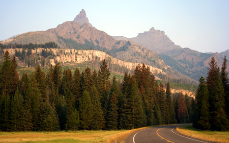 Beartooth Highway, Absaroka Range, Shoshone National Forest, Wyoming Stock Photo
