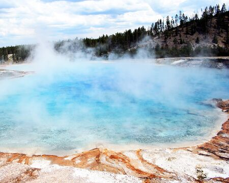 A turquoise pool in Yellowstone National Park, Wyoming