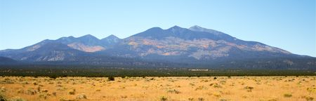 mount humphreys: A view of the northern slopes of the San Francisco Peaks, Arizona, in autumn Stock Photo