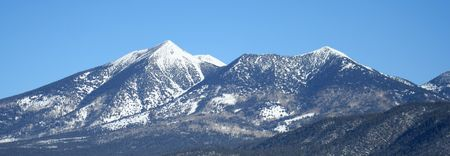 mount humphreys: A winter view of the southern slopes of the San Francisco Peaks, Arizona