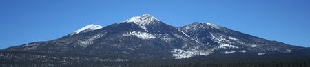 mount humphreys: A winter view of the southwest slopes of the San Francisco Peaks, Arizona