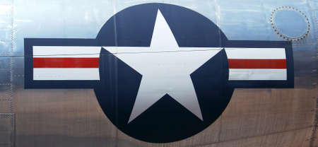 A Symbol of the United States of America Stands Out Proudly on the Reflective Metal Surface of a Military Aircraft Stock Photo - 2902622