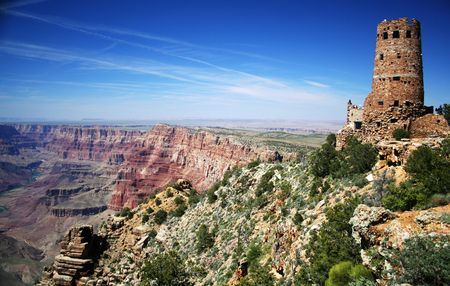 plateau point: Desert View Point Watchtower, Grand Canyon National Park, Arizona