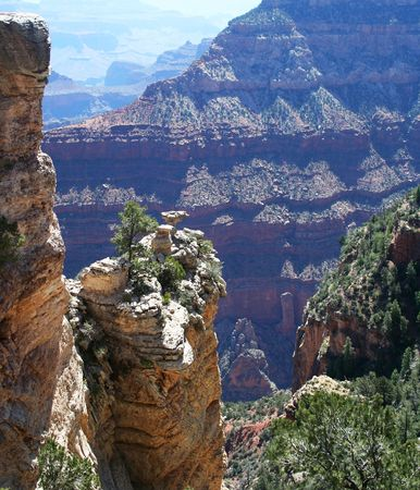 uplift: The Vast Majesty of the Grand Canyon of the Colorado River in Arizona Stock Photo
