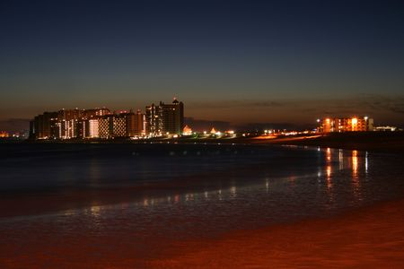 rocky point: Una Notte Scena del Sandy Beach Resorts, Rocky Point, Messico