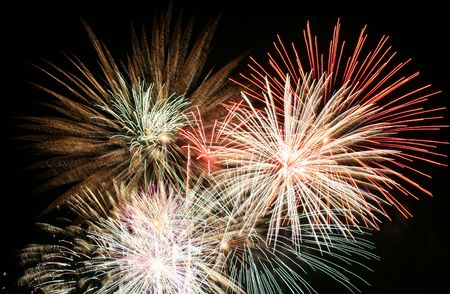 4th of July Fireworks, The Grand Finale Stock Photo