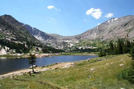 A Lovely Alpine Lake in Rocky Mountain National Park, Colorado photo