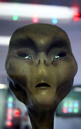grey: A Space Alien Aboard a UFO Stock Photo