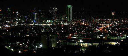 dallas: A View of Downtown Dallas at Night