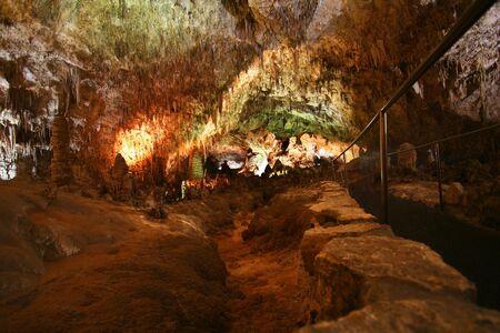 carlsbad: A Walkway Through Carlsbad Caverns National Park, New Mexico Stock Photo