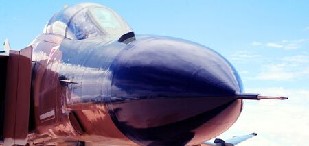 nose close up: A Close Up of the Nose of a Jet Fighter Aircraft