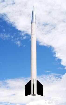 Une fusée de sondage Aerobee 170 permet de sonde espace  Banque d'images - 5268144