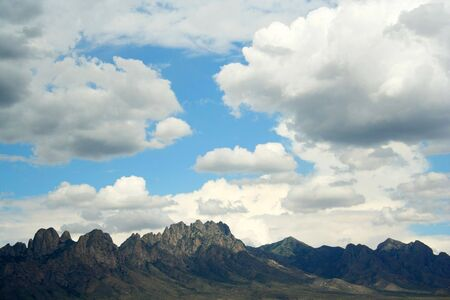 A View of the Organ Mountains, East of Las Cruces, New Mexico