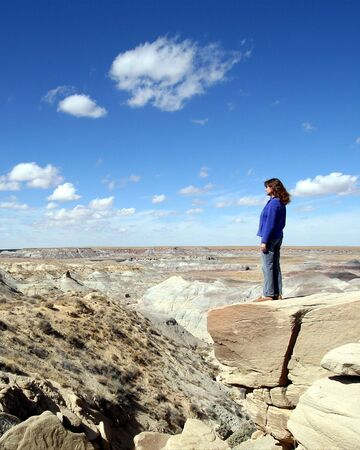 overlook: A Woman in Petrified Forest National Park, Arizona