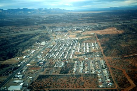 landfills: A View of a Small Arizona Town from the Air