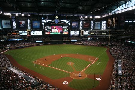 Game Day Versus the Atlanta Braves Inside Chase Field in Phoenix, Arizona, Home of the Arizona Diamondbacks, May 31, 2009 Stock Photo - 6885553