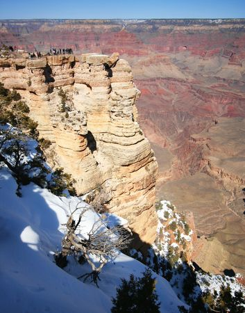 The Vast Majesty of the Grand Canyon from Mather Point in Arizona photo