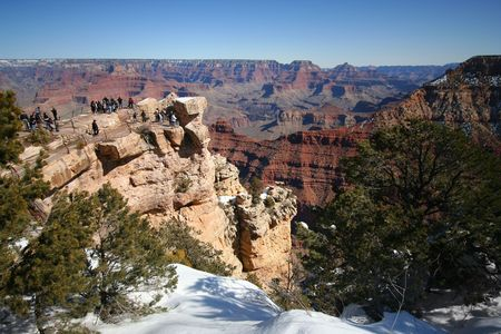 toroweap: The Vast Majesty of the Grand Canyon from Mather Point in Arizona photographed on February 14, 2010