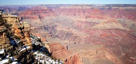 The Vast Majesty of the Grand Canyon in Late Winter in Arizona photo