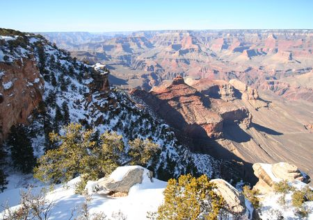 A Grand Canyon South Rim Winter View in Arizona photo