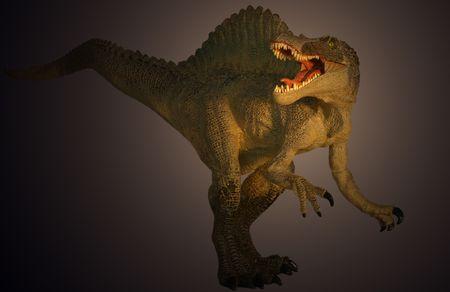 A Huge Spinosaurus Caught in the Spotlight