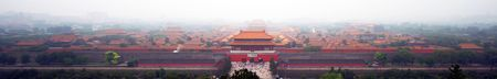 Aerial View of the Gate of Heavenly Purity, Forbidden City, Beijing, China Фото со стока