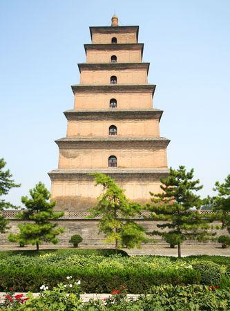 tang: A Park View of the Great Goose Pagoda, Xian, China