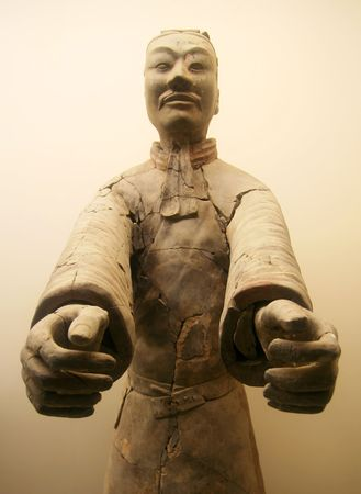 A Tunic Clad Terracotta Army Officer, Xian, Shaanxi, China